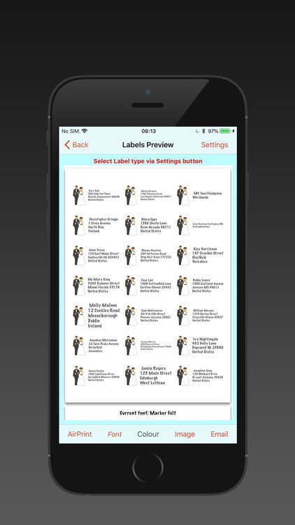Address Labels for CardLists screenshot-9