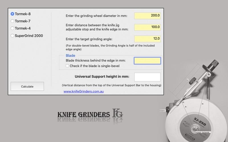 Grinding Angle Setter for Mac