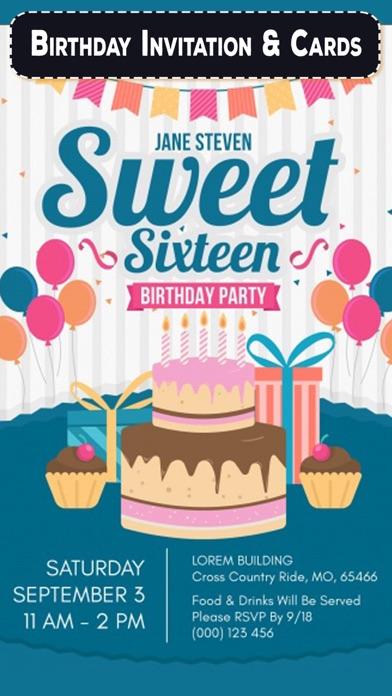 Birthday Invitation & Cards screenshot one