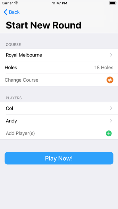 Golfers Score screenshot two