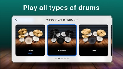 Drums - real drum set games app image