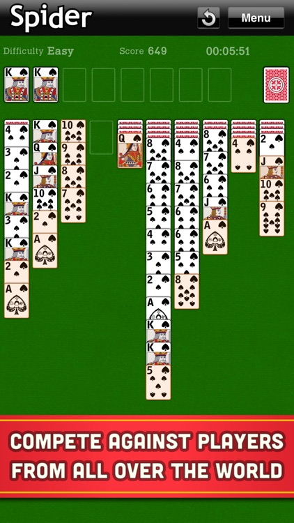 Spider Solitaire Classic Cards screenshot-3