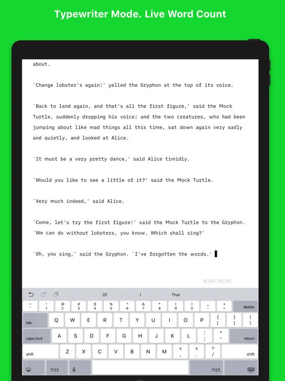 Screenshot #6 pour Writemator - Plain Text Editor