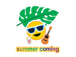 Summer Coming Stickers