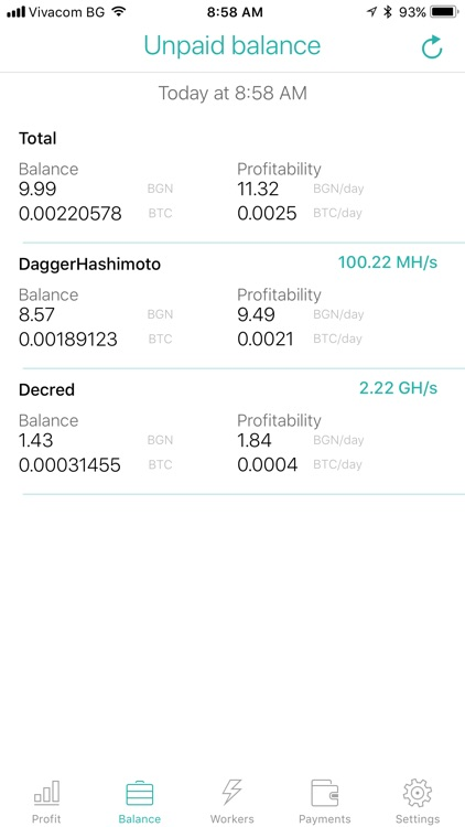 Nicestats Pro: Nicehash screenshot-1