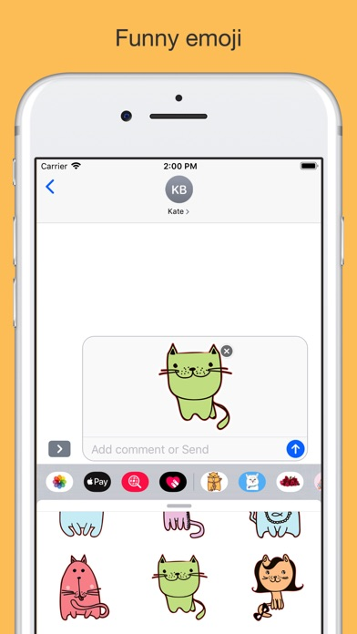 Cute cats - hand drawn emoji screenshot 3