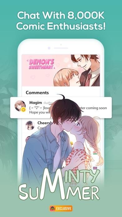 Screenshot for WebComics - Daily Manga in Belgium App Store