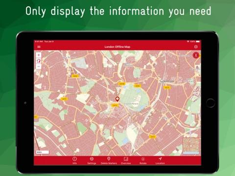 London Offline Map - náhled