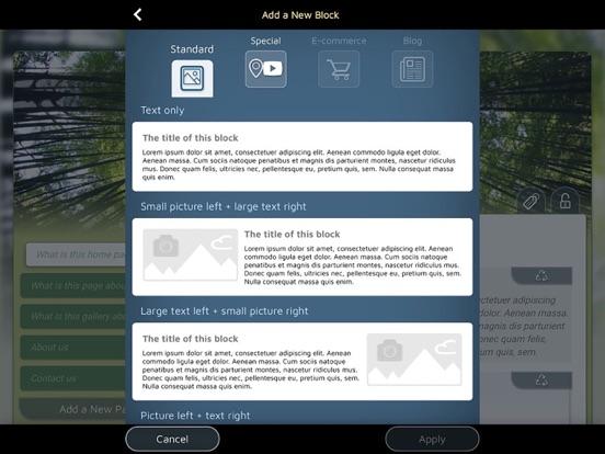 Create real websites with SimDif website builder screenshot
