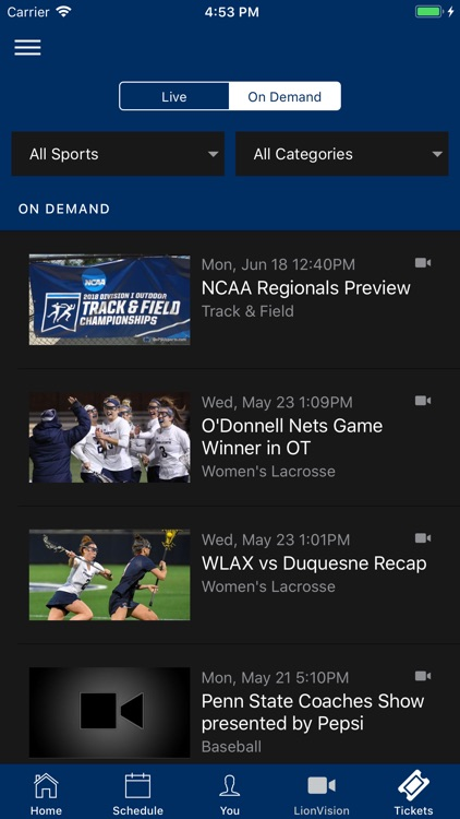 Penn State Athletics screenshot-3