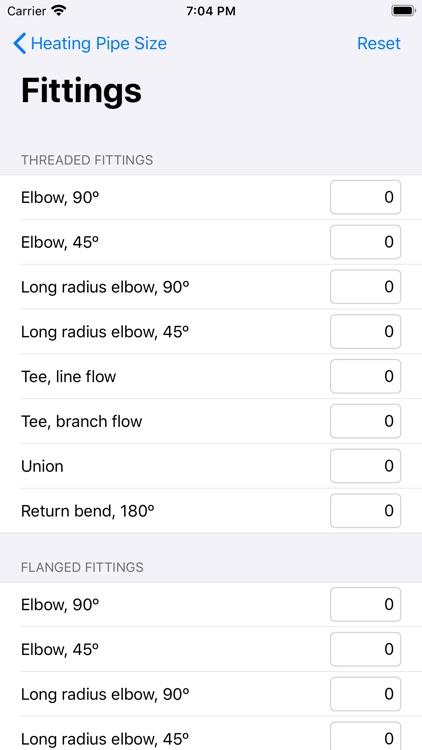 Heating Pipe Size screenshot-3