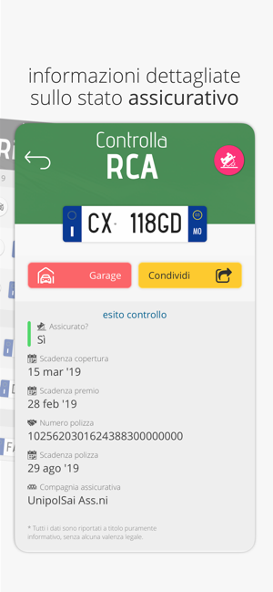 Veicolo Info Targa On The App Store