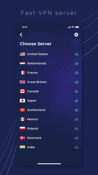 SafeGuard VPN Screenshot
