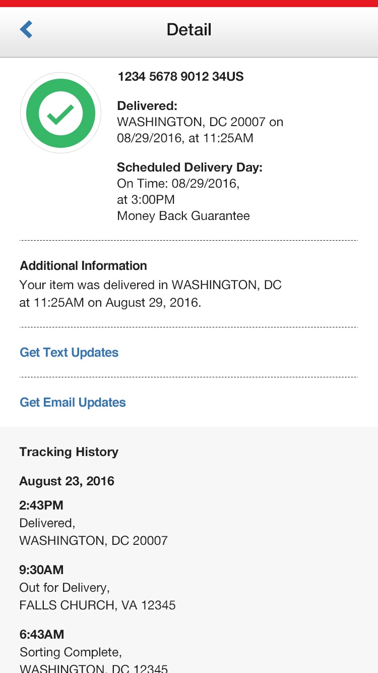 USPS Mobile® Screenshot