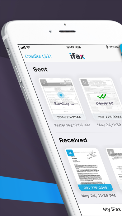 iFax: Fax from iPhone, ad free Screenshot