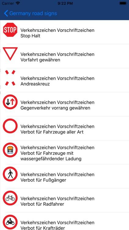 Verkehrszeichen Deutschen