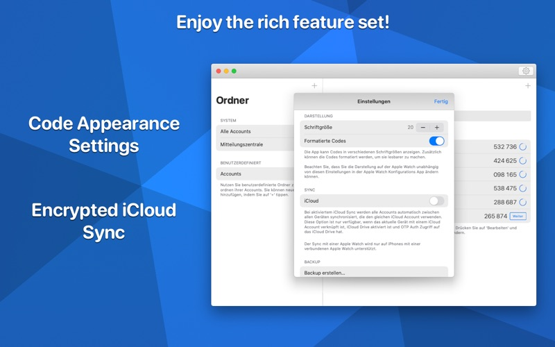 OTP Auth for Mac