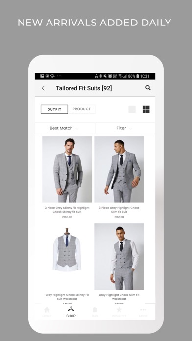 Burton Menswear London screenshot three