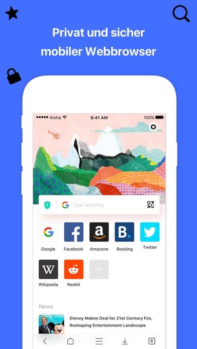 Aloha Browser: Privat VPN TORScreenshot von 1
