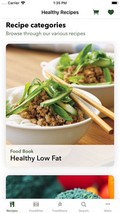 Healthy Recipe Book : FitMe ScreenShot1