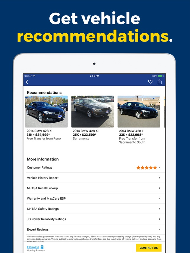 Carmax Used Cars For Sale On The App Store