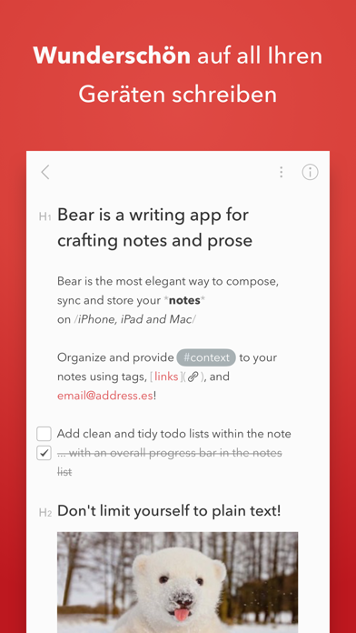 Bear - Private NotizenScreenshot von 1