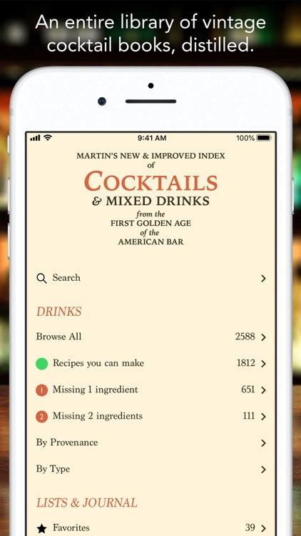Martin's Index of Cocktails