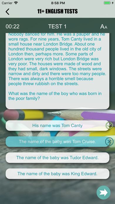 11+ English Exam Question screenshot 2
