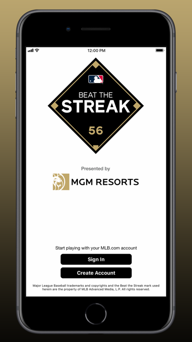 MLB Beat the Streak Screenshot
