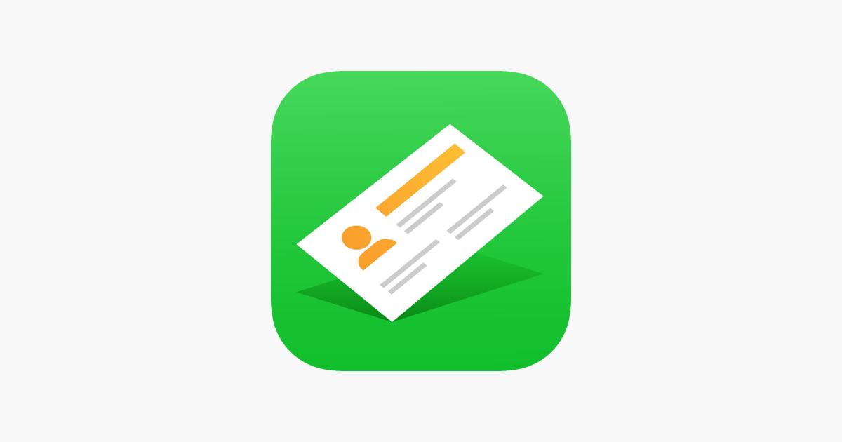 Visitenkarten Erstellen Halter Im App Store