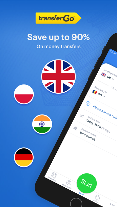 TransferGo: Денежные ПереводыСкриншоты 1