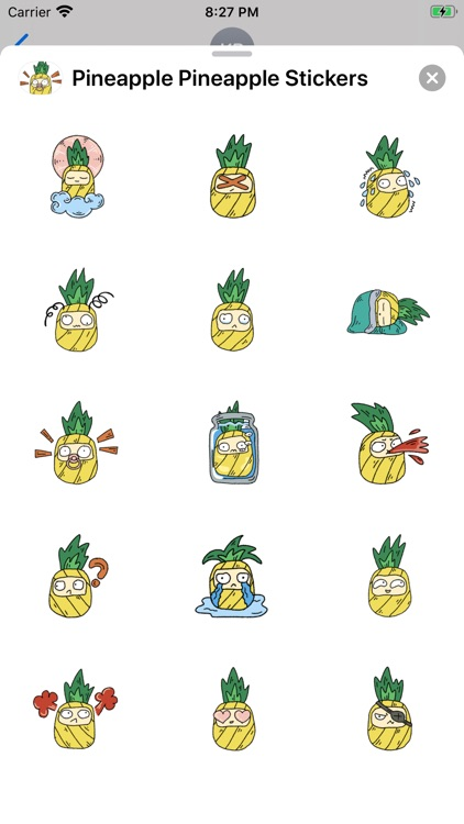 Pineapple Pineapple Stickers screenshot-3