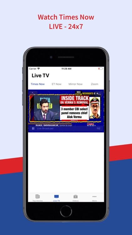 TimesNow - English, Hindi News screenshot-4
