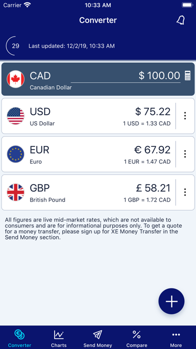 XE Currency Converter Pro Screenshots