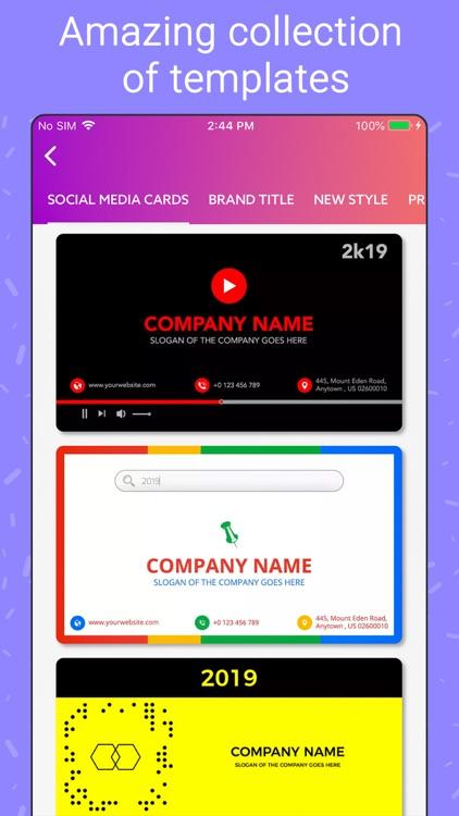 Business Card Maker, Make Card screenshot-3