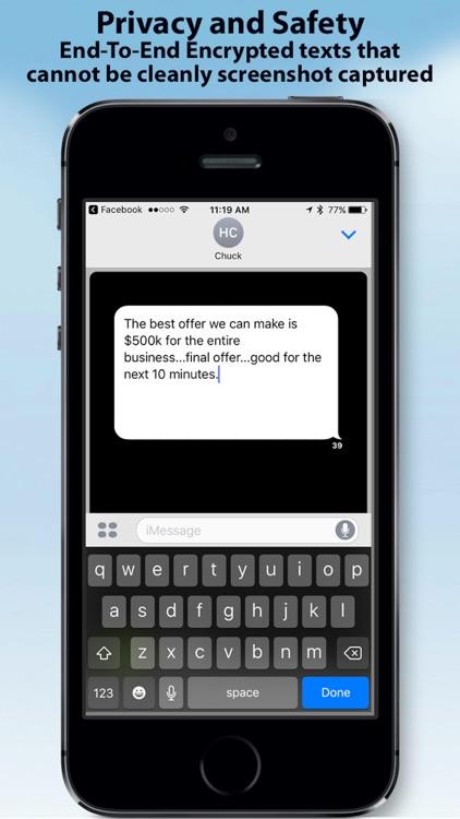 Off The Record Texting & Pics screenshot-4