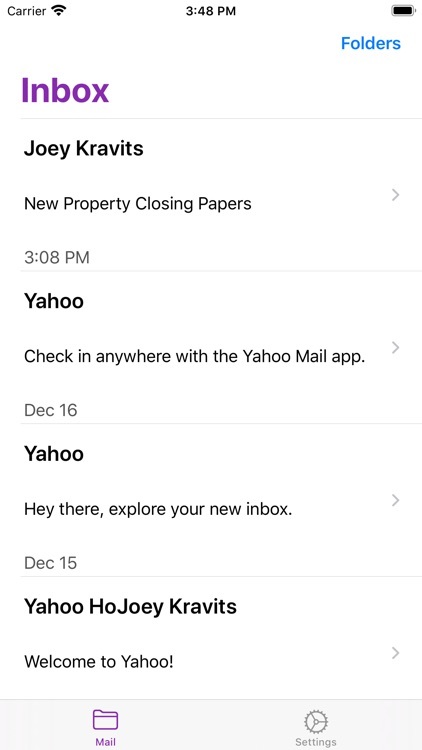 MiniMail for Yahoo Mail