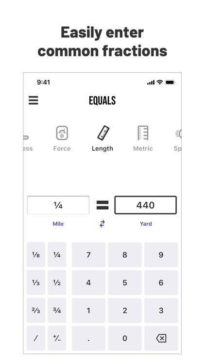 Equals: Unit Converter