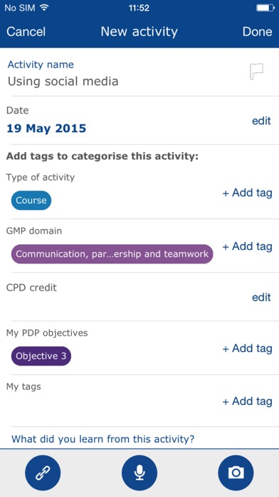 GMC My CPD screenshot four