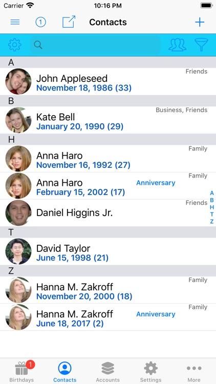 BirthdaysPro screenshot-3