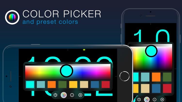 ClockPhone - big digital clock screenshot-5