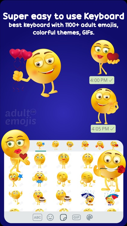 Adult Emoji Keyboard Stickers screenshot-4