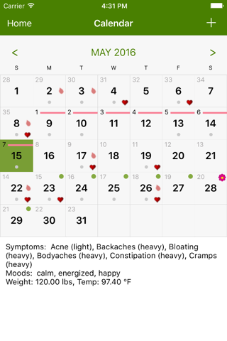 Screenshot of Period Tracker by GP Apps