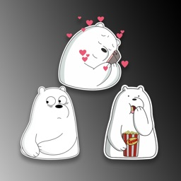 White Ice Bear Stickers