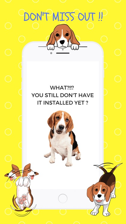 Beagle Fun Emoji Stickers screenshot-3