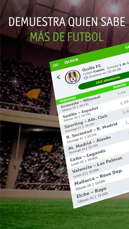 QUIFA -Liga 1X2 Fútbol En Vivo screenshot-0