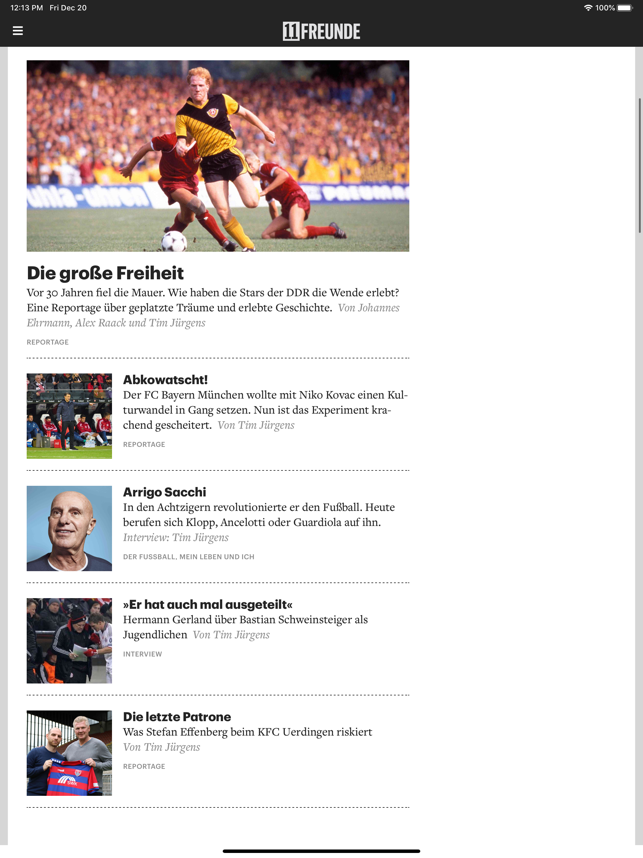 ‎11FREUNDE News Screenshot