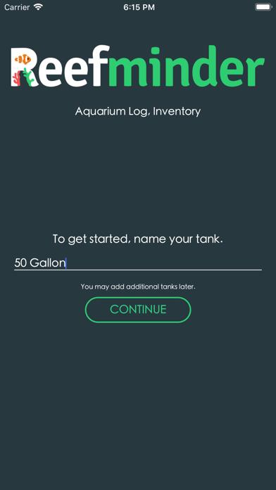Reefminder Fish Log Screenshots