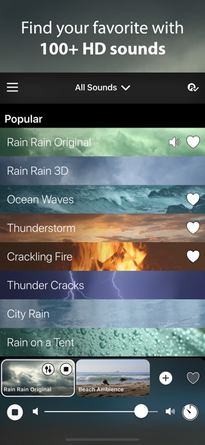 Rain Rain Sleep Sounds on the App Store