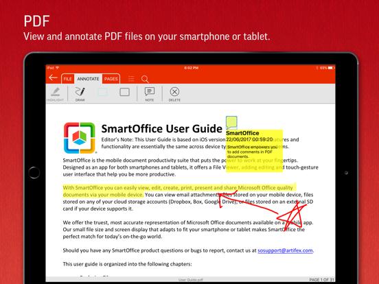 SmartOffice - Document Editing iPad app afbeelding 5